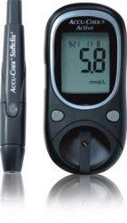 Vércukormérő Accu-Chek Activ Kit (gép, tartó, ujjbegyszúró, 10 lándzsa, 10 tesztcsík)