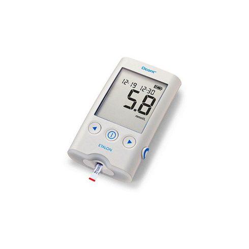 Dcont® ETALON - vércukormérő szett (készülék, ujjbegyszúró készülék, 8 db vérvételi lándzsa, zippzáras tok)