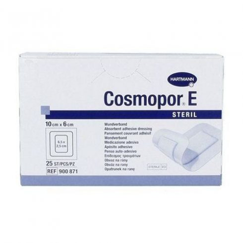 Cosmopor® E steril szigetkötszer (10x6 cm) - 25 db / csomag