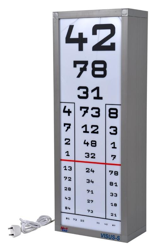 látásélesség vizsgáló tábla)