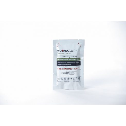 WoundClot® Trauma vérzéscsillapító kötszer - 8x100 cm